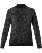 Christopher Kane Snake-Intarsia Cashmere-Knit Sweater - Lyst