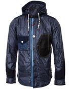 Junya Watanabe Man For Comme Des Garcons Duvetica Eurisace Hooded Jacket Navy Blue - Lyst