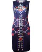 Mary Katrantzou 'Directopos' Fitted Dress - Lyst