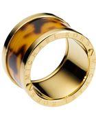 Michael Kors Faux Tortoise Barrel Ring - Lyst