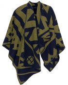 Burberry Prorsum Wool and Cashmere Blend Wrap - Lyst