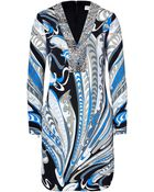 Emilio Pucci Feather Printed Dress With Embroidery - Lyst