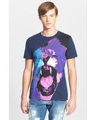 Just Cavalli 'Lion Bolt' Graphic T-Shirt - Lyst