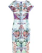 Mary Katrantzou Printed Neoprene Dress - Lyst