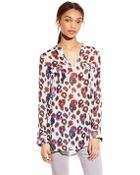 Two By Vince Camuto Printed Split Neck Tunic - Lyst