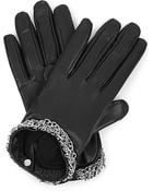 Causse Gantier Chain-Trim Leather Gloves - Lyst