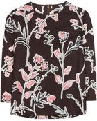 Marni Printed Cotton And Silk Top - Lyst