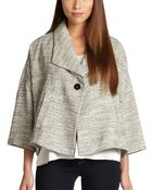 Eileen Fisher Herringbone Swing Jacket - Lyst