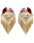 Iosselliani Crystal Fringe Drop Earrings - Lyst