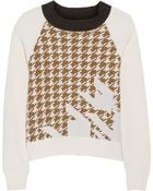 3.1 Phillip Lim Houndstooth Intarsia Wool Sweater - Lyst