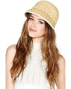 Nasty Gal Genie By Eugenia Kim Hollis Straw Cap - Lyst