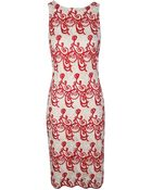 Alice + Olivia Wynn Sleeveless Slim Fitted Dress - Lyst