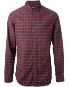 DSquared2 Checked Shirt - Lyst