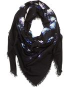 Givenchy Flower Bouquet Wool Scarf - Lyst