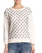 Alice + Olivia Drew Embellished Sweatshirt - Lyst