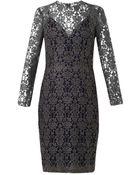 L'Agence Mesh Lace Dress - Lyst