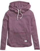 H&M Striped Hooded Top - Lyst