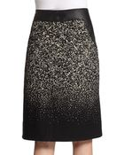Lafayette 148 New York Bruna Leathertrimmed Skirt - Lyst
