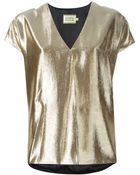 Fausto Puglisi Metallic Panel T-Shirt - Lyst