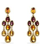 David Yurman Dy Signature Collection Chandelier Earrings with Madeira Citrine and Diamonds in Gold - Lyst