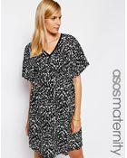 Asos Maternity Kimono Dress In Animal Print - Lyst