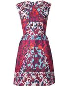 Peter Pilotto Orchid Print Dress - Lyst