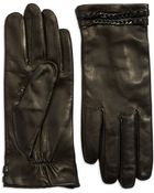 Vince Camuto Chain-Accent Leather Gloves - Lyst