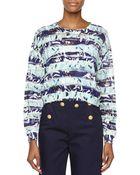 Kenzo Metallic Stripe Sweater - Lyst