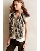 Twelfth Street Cynthia Vincent Faux Coyote Vest - Lyst