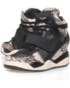 Ash Black Funky Python High-Top Wedge Trainers - Lyst
