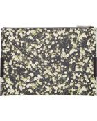 Givenchy Black And White Floral Flap Pouch - Lyst