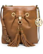 Michael Kors Camden Leather Crossbody - Lyst
