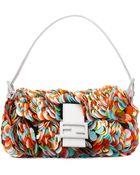 Fendi Embellished Baguette Bag - Lyst
