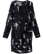 Ann Demeulemeester Embroidered Lace Dress - Lyst