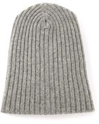 The Elder Statesman Ribbed Slouchy Beanie - Lyst