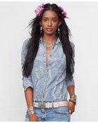 Denim & Supply Ralph Lauren Jacquard-Knit Chambray Shirt - Lyst