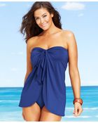 Lauren by Ralph Lauren Plus Size Flyaway Tummy-Control One-Piece Swimsuit - Lyst
