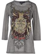 Just Cavalli Long Sleeve Tshirt - Lyst