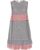 RED Valentino Striped Silk Dress - Lyst