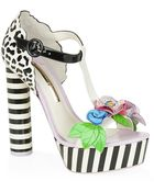 Sophia Webster Lilico Jungle Leather Platform Sandal - Lyst