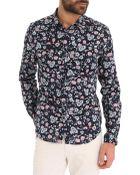 Ikks Floral Navy Blue Shirt - Lyst