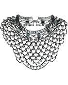 Topshop Premium Hematite Rhinestone Collar - Lyst