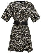 Marc Jacobs Belted Floral Short Sleeve Dress - Lyst