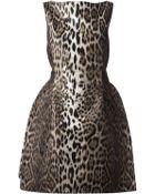 Lanvin Leopard Dress - Lyst