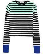 T By Alexander Wang Striped Stretch-Cotton Top - Lyst