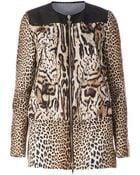 Moncler Gamme Rouge Leopard Print Coat - Lyst