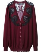Dolce & Gabbana Lace Embroidered Cardigan - Lyst