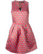 Markus Lupfer Sleeveless Lip Print Dress - Lyst