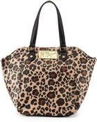 Betsey Johnson Leopard-Print Hexagon Tote Bag - Lyst