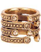 Oscar de la Renta Swarovski Crystal Multi-Hoop Ring - Lyst